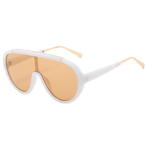 zhuoying Gafas Gafas de sol Femeninas Moda Moda Gran Marco Gafas de sol Mujer Espejo de esquí-4