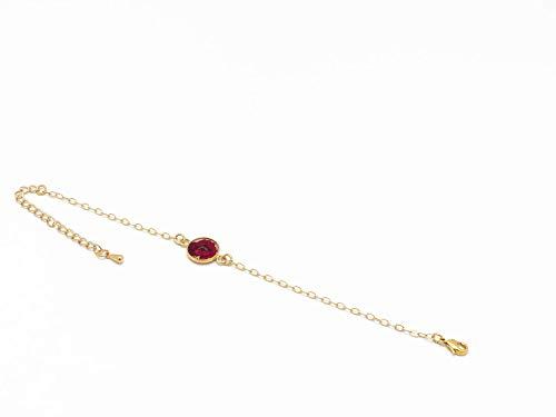 Bracelet fleur COQUELICOT réglable noir rouge beige or...