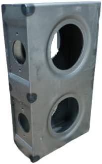 WELDANDFABSHOP Gate Lockbox Double Hole Weldable Steel 7 5/8