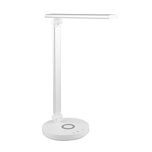 LOVIVER Lámpara de escritorio LED de carga inalámbrica 10W con 3 niveles de brillo lámpara de mesa de luz de lectura de protección de ojos