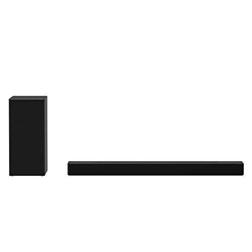 LG SPD7Y Soundbar TV 380W 3.1.2 Canali Meridian con Subwoofer Wireless, Bluetooth, Tecnologia DTS:X, Dolby Atmos, Dolby Digital, Audio Alta Risoluzione, AI Sound Pro, Ingresso Ottico, USB - Nero
