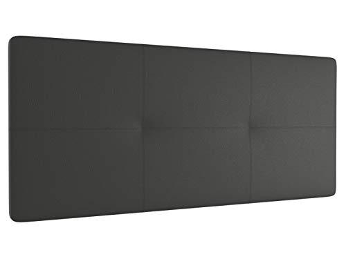 LA WEB DEL COLCHON - Cabecero tapizado Atenas para Cama de 200 (210 x 70 cms) Gris Ceniza   Cama Juvenil   Cama Matrimonio   Cabezal Cama  