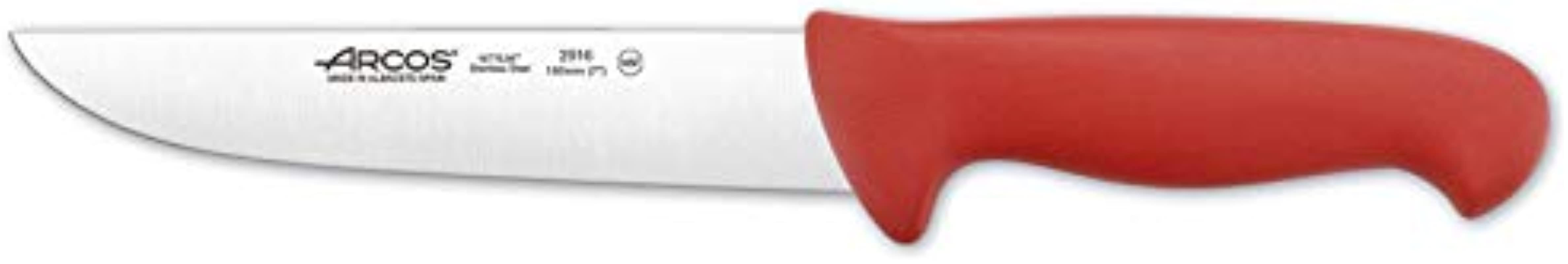 Arcos 7 Inch 180 Mm 2900 Range Butcher Knife Red