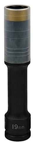 KS Tools 515.0618 - Douille à chocs 6 pans extra-longue pour jantes aluminium - Gamme SlimPOWER, 19 mm - Spécial montage/démontage de roue - En Chrome-Molybdène - Jaune