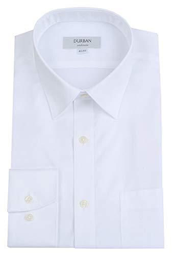 【D'URBAN Ombrare】ダーバン 「形態安定 or EasyCare」ショートレギュラー 無地 ドレスシャツ(長袖) 白 size 39-78