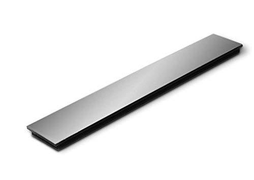 Fackelmann magneetstrip, kunststof, zwart, 20 x 3 x 1 cm