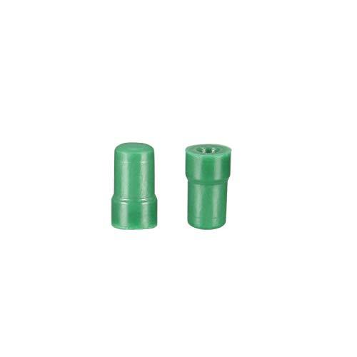 Tapón de silicona de alta temperatura, tapón de silicona sólida, verde, perfecto para el revestimiento de polvo anodizado, 3,5 x 4 x 7, 50 unidades