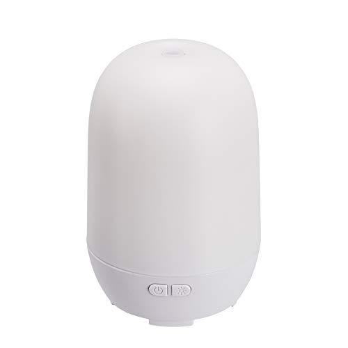 Amazon Basics – Ultraschall-Aromatherapie-Zerstäuber für ätherisches Öl, 100 ml, weiße Basis, mit Nachtlicht mit 7 Farben