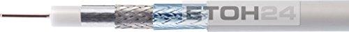 LCD 111 A+ Koaxialkabel, 1,13/6,9 mm, PVC, 100 m Einwegspule, weiß