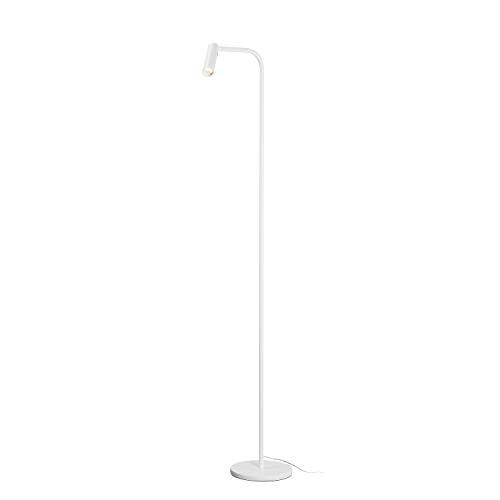 Lampa podłogowa SLV KARPO FL / oświetlenie wewnętrzne LED, lampa do studia, lampa do salonu, lampa dekoracyjna, lampa do czytania / 3000K 6,5W 400lm biała ściemnialna 40 stopni