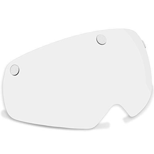 VICTGOAL Casco Gafas Bici Casco de Bicicleta para Adultos con Visera Magnética Desmontable Antipolvo a Prueba de Viento para Casco de Bicicleta Seguridad (Transparente)