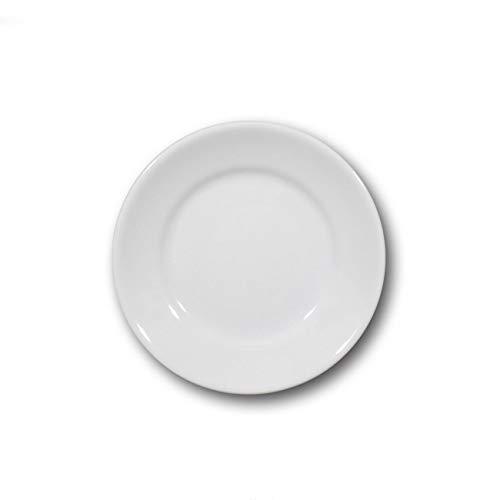 Assiettes à dessert porcelaine blanche x 6- D 20 cm - Tivoli