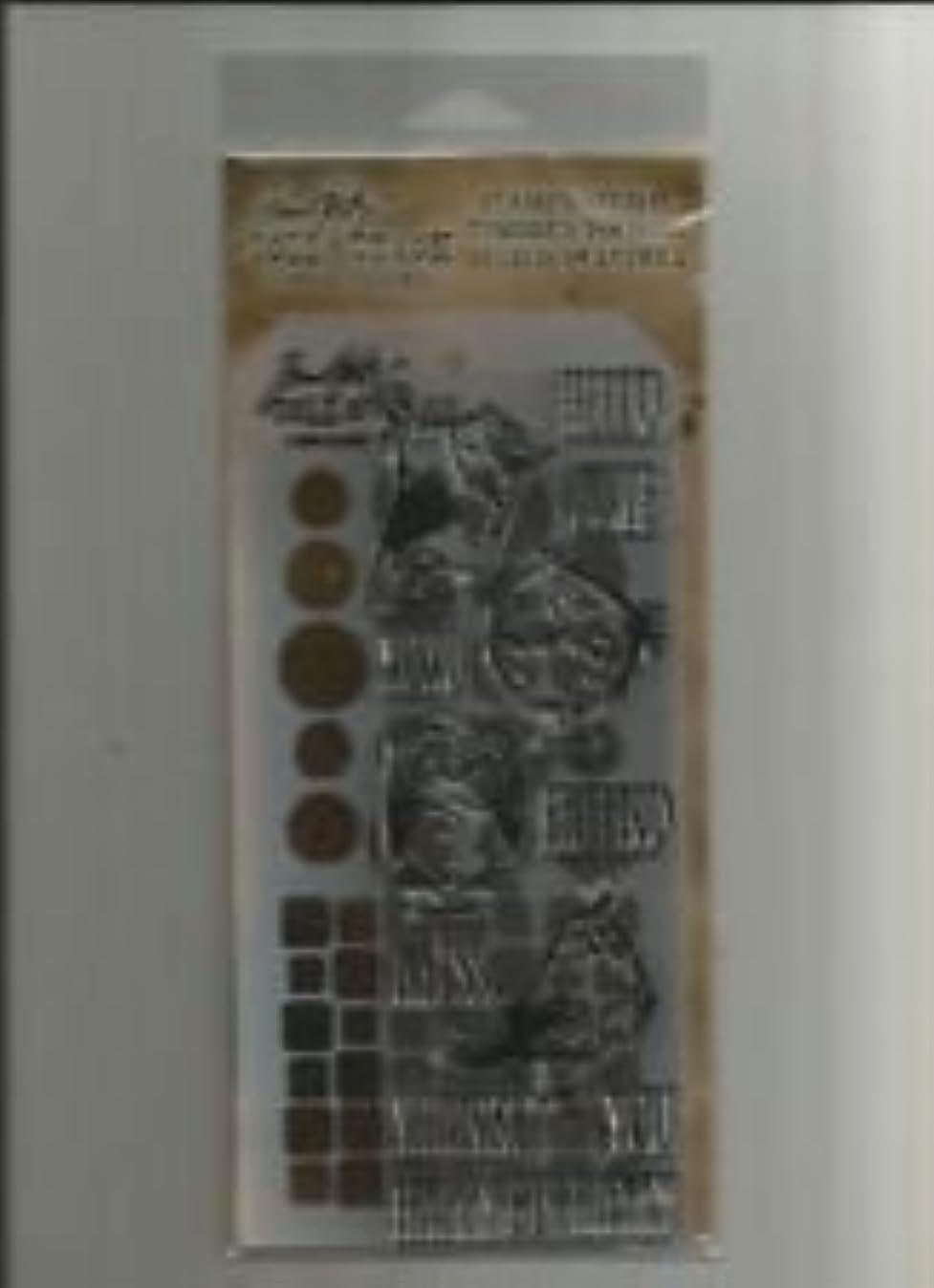 Tim Holtz Stamper's Anonymous Collection Stamp & Stencil - Bird Crazy c7152416182
