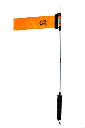 YakAttack VISICarbon Pro 360 Degree LED Kayak Fishing Visibility Flag