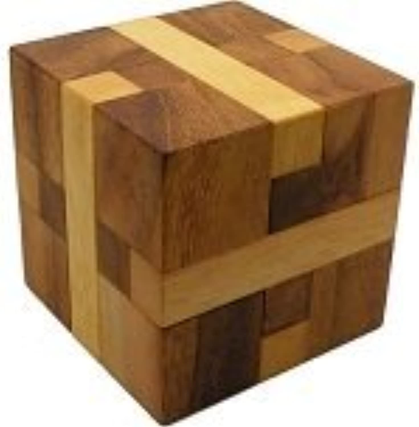 Bind Cube  Wooden Brain Teaser Puzzle by Winshare Puzzles and Games