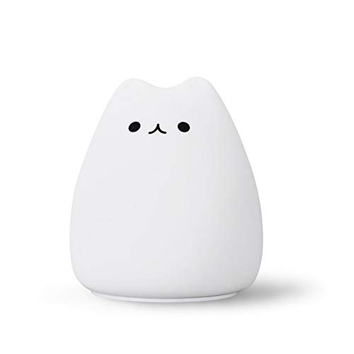 LED Night Lamp decoreren bureau Light Battery Dream Cute Cat 7 Colorful Holiday Creative Sleepping Bulb voor Baby Bedroom Luminar,2