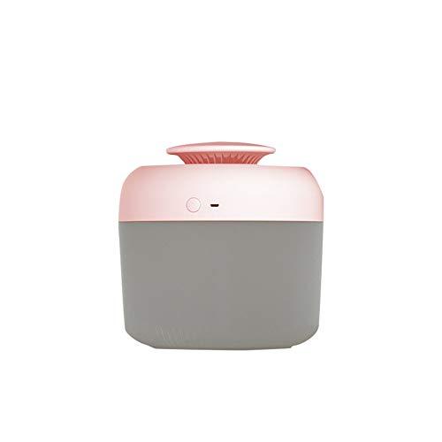 2,4 litros Grande Capacidad USB Ultrasónico Aire Humidificadores Aceite Esencial Aroma Difusor Aromaterapia con Luz de Noche para Hogar Oficina,Rosado