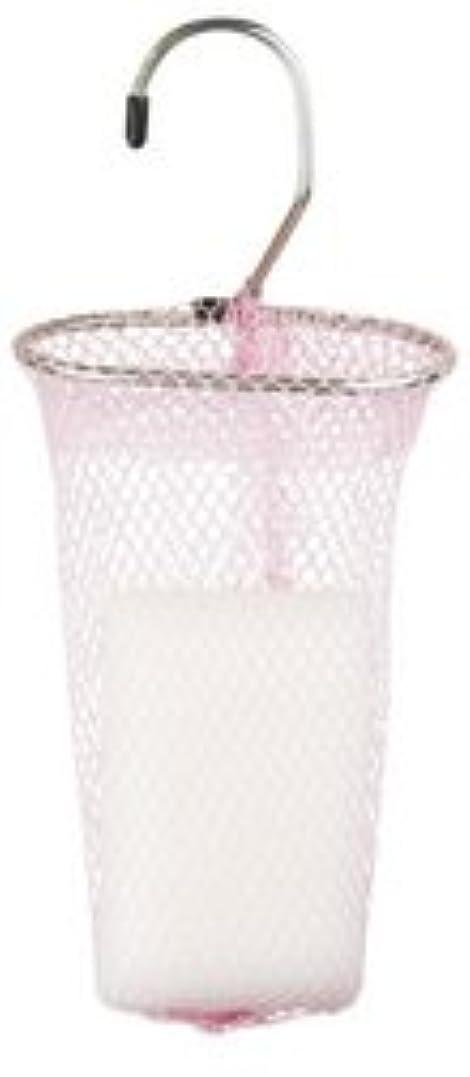 入浴うなり声居心地の良い石けんネット リングタイプ 10枚組 ピンク