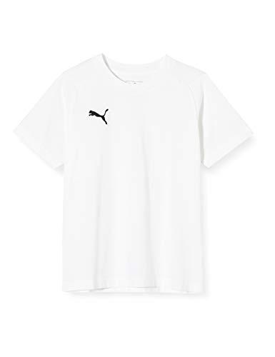 Puma Kinder LIGA Casuals Tee Jr T-shirt, White Black, 140