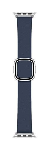 Apple Watch (40mm) Modernes Lederarmband, Tiefseeblau - Medium