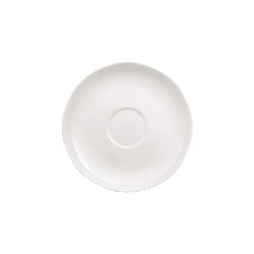 Villeroy und Boch Royal Kaffee-/Tee-Untertasse, runder Unterteller aus hochwertigem Premium Bone Porzellan, weiß, spülmaschinenfest, 150 mm