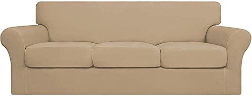 JJDSN Chaqueta de sofá Suave elástica Homee4, se Puede Limpiar, Cubierta de Muebles Flexible