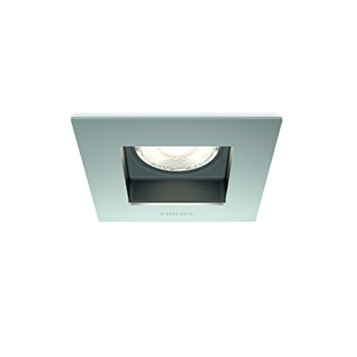 Philips myLiving Porrima - Foco empotrable, iluminación interior, LED, luz blanca cálida, color cromo