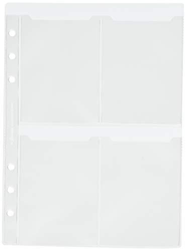 Filofax - Funda para tarjetas de visita (tamaño A5, a doble cara)