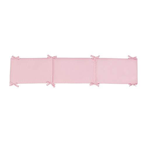 Interbaby Tour de Lit Bébé Coton Seul Couleur Rose 40 x 226 cm