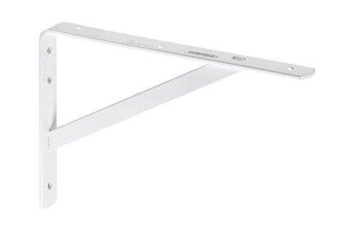 Metafranc Schwerlastkonsole 330 x 500 mm - Stahl - weiß - Hochwertige Verarbeitung - 200 kg Tragkraft / Schwerlastträger / Regalträger / Wandhalter für Bücherregal / 700560