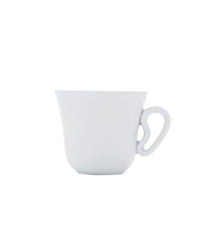 Alessi TI02/76 1 KU Tazza da caffè in Porcellana Bianca, Set da 6
