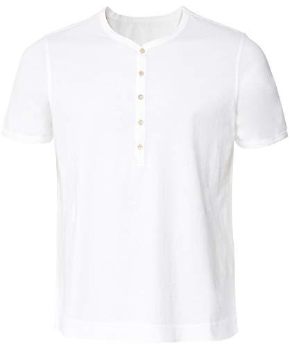 Circolo 1901 Men's Cotton Henley T-Shirt White XL