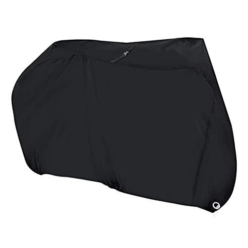 Cubierta de tela Oxford para bicicleta Equipo impermeable Bicicleta de montaña Cubierta de lluvia para bicicleta Cubierta de ciclo resistente Bolsa de almacenamiento (negro M: 1.8 * 0.6 * 0.9M)