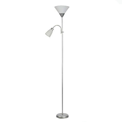 FAFZ multifunctionele vloerlamp creatieve dubbele koplamp in de woonkamer slaapkamer, aparte schakelaar (23 × 23 × 178 cm)