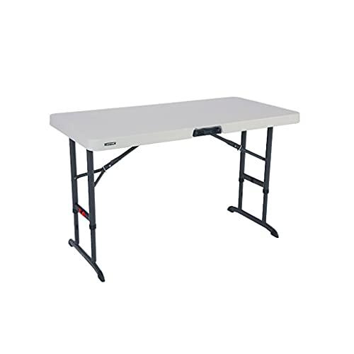 LLRZ Mesa plegable de escritorio portátil sin montaje, escritorio de oficina, escritorio, plegable, altura ajustable, mesa de camping para interior y exterior