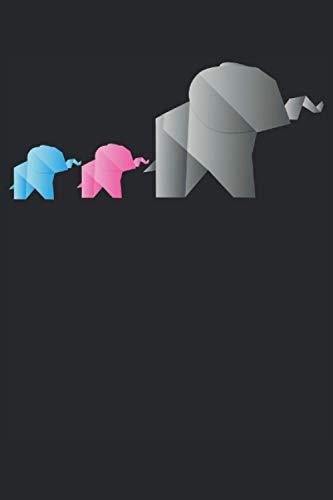Origami Papier Elefanten Polygon Tiere Geschenk Notizbuch (Taschenbuch DIN A 5 Format Liniert): Origami Elefanten Familie Geschenkidee Notizbuch, ... gerne Origami falten oder mit Papier basteln.