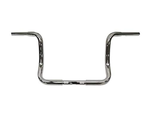 LA CHOPPERS LA-7321-10 Chrome 11/4' Touring Ape Hanger Handle Bar (10 Fl 96-16)