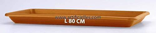 Artificielles-Bandeja para aero-Jardinera aportara máxima calidad de plástico 80 cm, terracota elige el color y el Tamaño: 80 cm, terracota