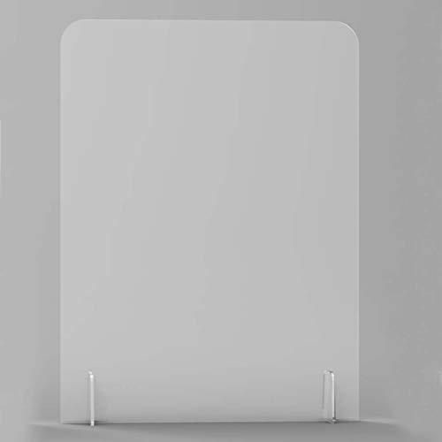 Inmaker Sneeze Guard für Theken, Kunststoff-Abschirmung, mit 25,4 x 10,2 cm Aussparung aus Plexiglas, Acryl-Schild für Schreibtisch 24''*32'' Ohne Ausschnitt