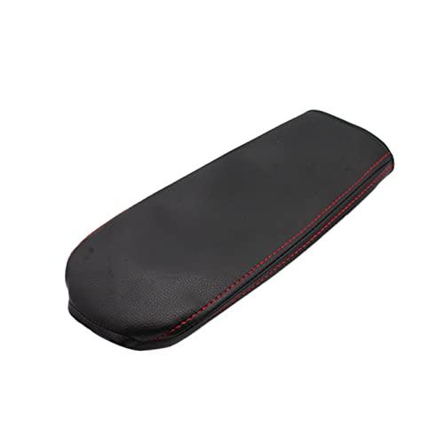 Lin min Firm Coche Central de Coches Cubierta de la Caja de la Caja de Cuero de la Microfibra Protection Pad Fit para Passat 2010-2015 (Color Name : Black)