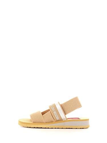 Moschino Love JA16013G0A Damen Sandalen/Fashion-Sandalen, Gold - Gold - Größe: 36 EU