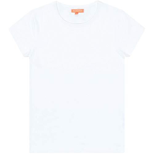 Staccato Mädchen Basic Shirt | White 92/98 | Kurzarm Rundhals Baumwolle tailliert geschnitten elastisch