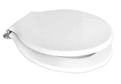 Pozzi Ginori, WC-Sitz, Serie Montebianco, 07761, Ersatz-Sitz mit verchromten Scharnieren, weiß