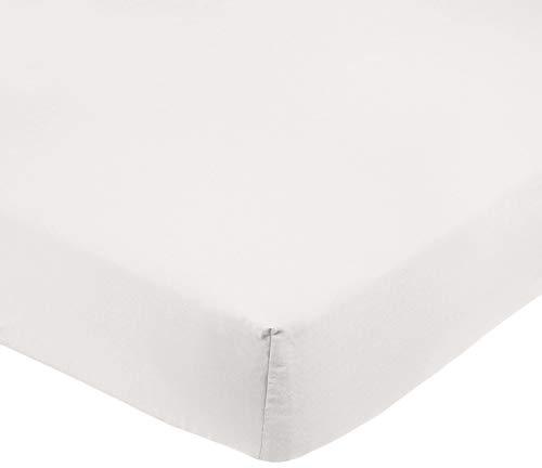 AmazonBasics Hoeslaken, microvezel, beige, 100 x 200 x 30 cm