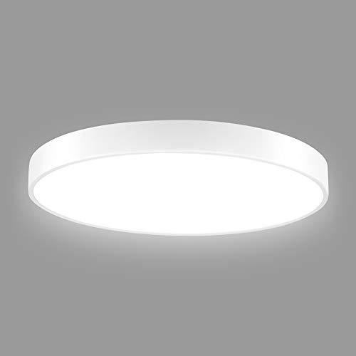 Viugreum LED Deckenleuchte, LED Panel Deckenlampe 36W, 3600lm, Dimmbar (2800K-6500K), Rund deckenlampe flach, Ideal für Schlafzimmer Küche Wohnzimmer,Balkon,Flur