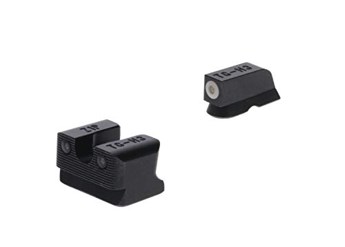 TRUGLO Tritium Pro Glow-in-The-Dark Handgun Night Sights for CZ Pistols, CZ 75 Series, White Ring, One Size