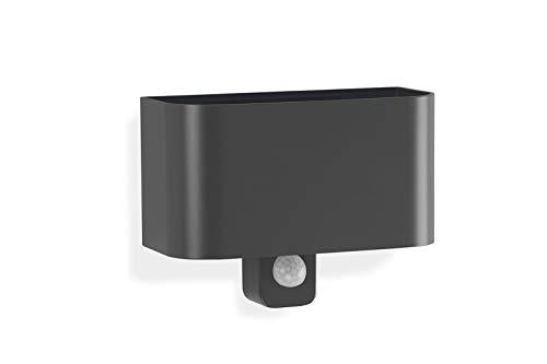 Telefunken – LED Außenwandleuchte mit Bewegungsmelder, Außenwandlampe 7 Watt, 600 Lumen, Lichtfarbe: 4.000 Kelvin neutral weiß, schwarz
