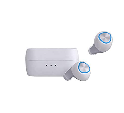 Funker BNA1 BEAT SPORT Auriculares Bluetooth 5.0 TWS con chip Realtek, Incluye estuche de carga (Blanco)