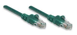 Intellinet - Cable de conexión de red Cat5e, 1 m, color verde, CCA (aluminio revestido de cobre), U/UTP (cable sin apantallamiento/par trenzado sin apantallamiento), PVC, RJ45 macho a RJ45 macho, contactos chapados en oro, sin enganches