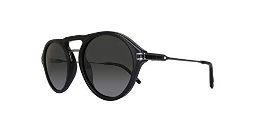 Montblanc Mont Blanc MB716S-01D-52 Gafas de sol, Negro (Shiny Black/Smoke Polarized), 52.0 para Hombre
